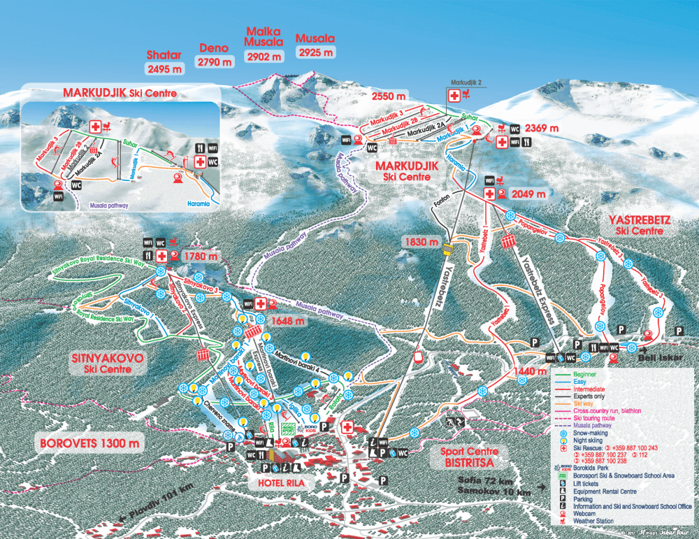 Borovets gallery | Borovets_map
